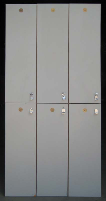Double Tier Used Wood Laminate Lockers